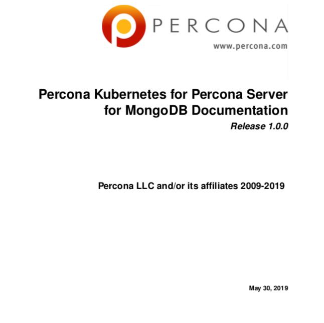 PerconaKubernetesOperatorPerconaServerMongoDB 1.0.0