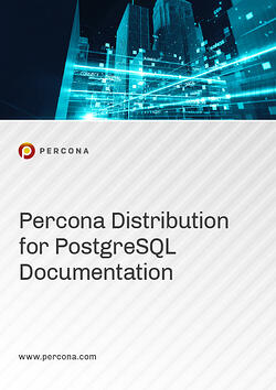 2020 Manual Cover Image Percona Distribution for PostgreSQL
