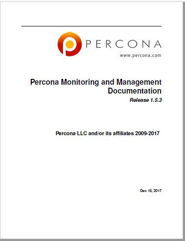 Percona Monitoring And Management 1.5.3 Manual
