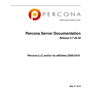 Percona Server for MySQL 5.7.26-29