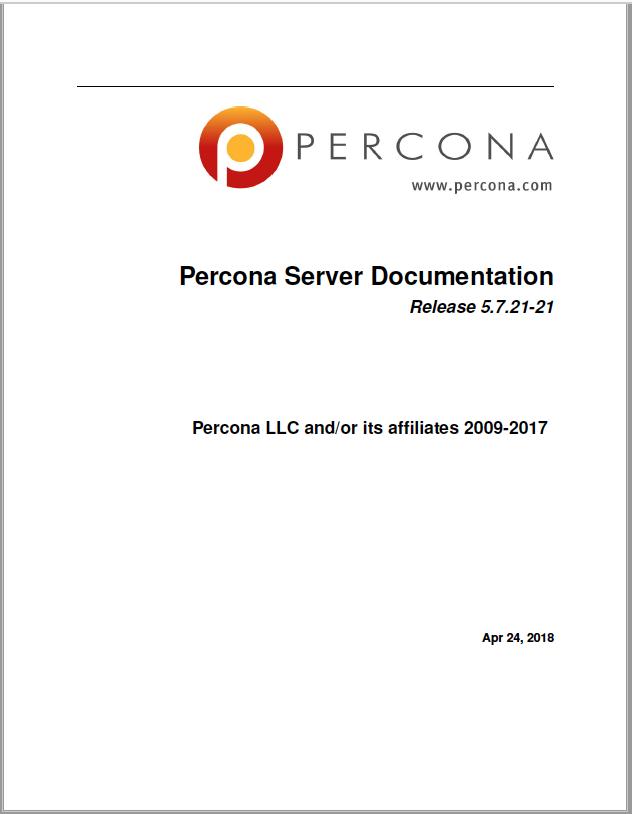 Percona-Server-MySQL-5.7.21-21