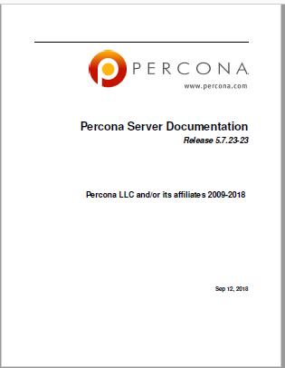 PerconaServer-5.7.23-23