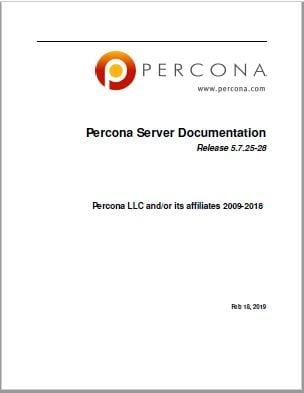 PerconaServerForMySQL-5.7.25-28