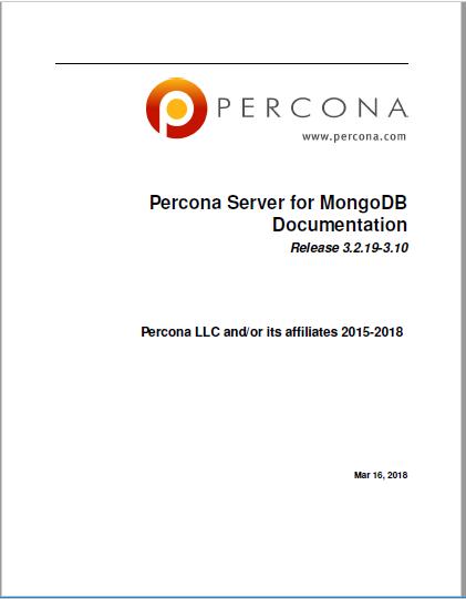 Percona Server for MongoDB 3.2.19-3.10 manual