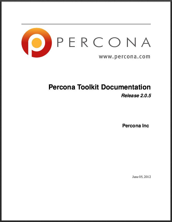 Percona-Toolkit-205