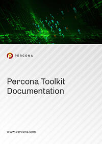 2020 Manual Cover Image Percona Toolkit