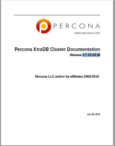 PerconaXtraDBCluster-5.7.22-29.26