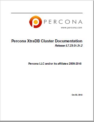 PerconaXtraDBCluster-5.7.23-31.31.2