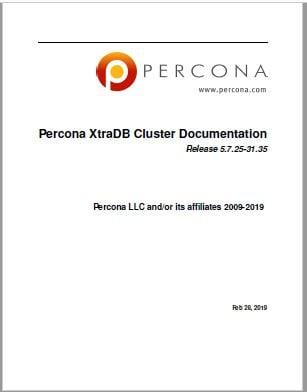 PerconaXtraDBCluster-5.7.25-31.35