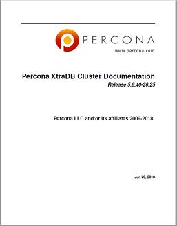 PerconaXtraDBCluster-5.6.40-26.25