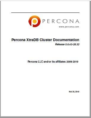 PerconaXtraDBCluster-5.6.43-28.32