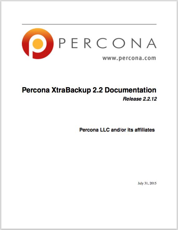 Percona-XtraBackup-2.2.12