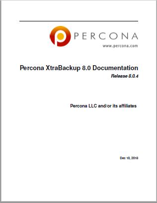 Percona-XtraBackup-8.0.4