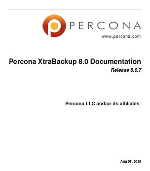 PerconaXtraBackup-8.0.7