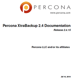 Download Percona XtraBackup 2.4 Manual