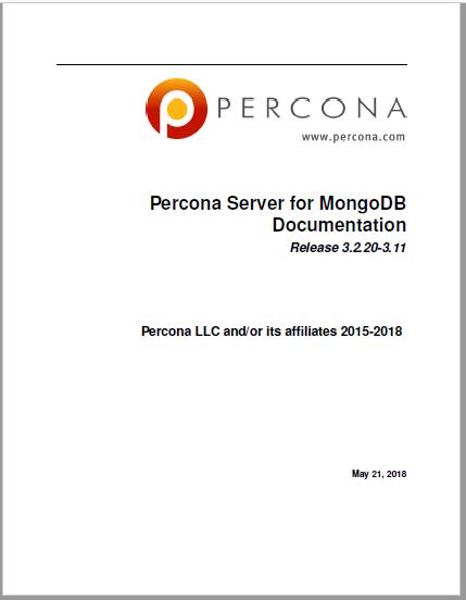 Percona-Server-for-MongoDB- 3.2.20-3.11