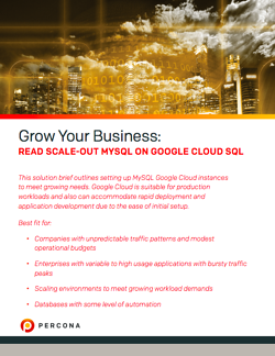 Read Scale Out MySQL on Google Cloud SQL white paper